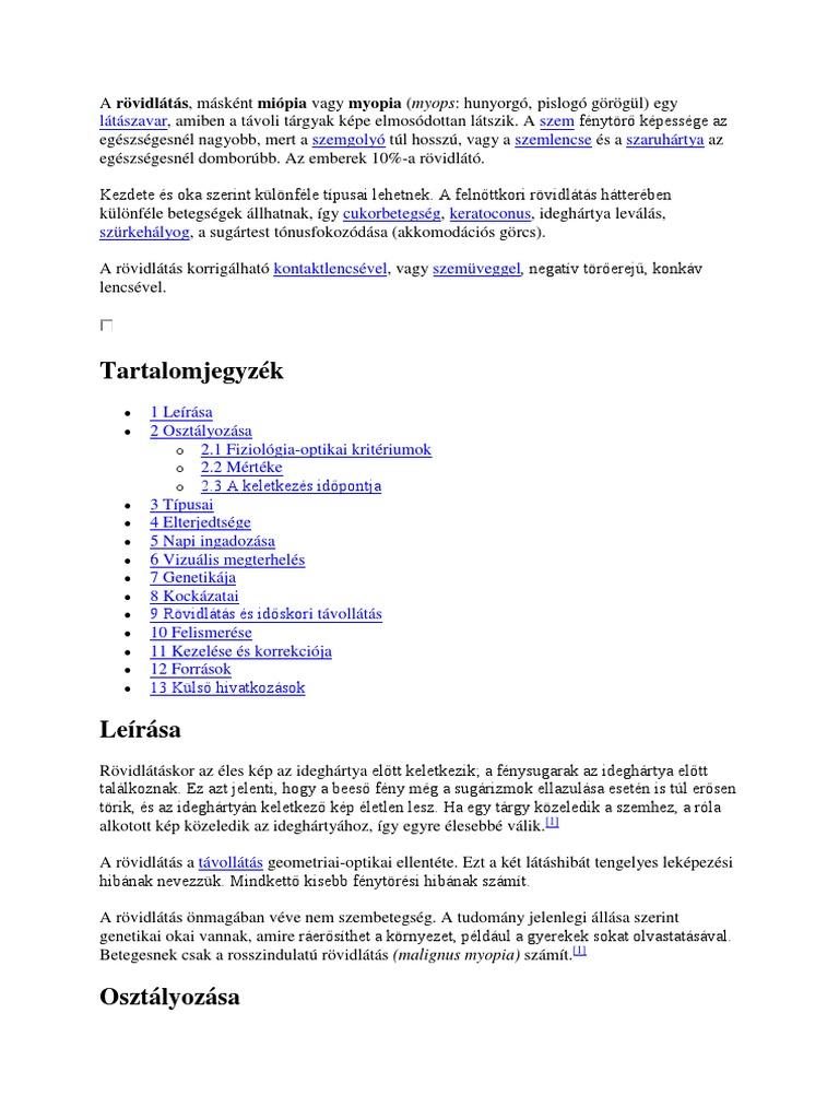 Rövidlátás (myopia) Opti Markt Blog