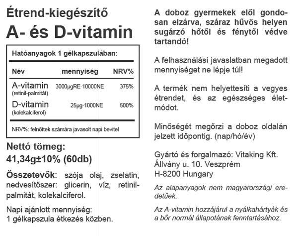 Vitamin kapszulák a látáshoz