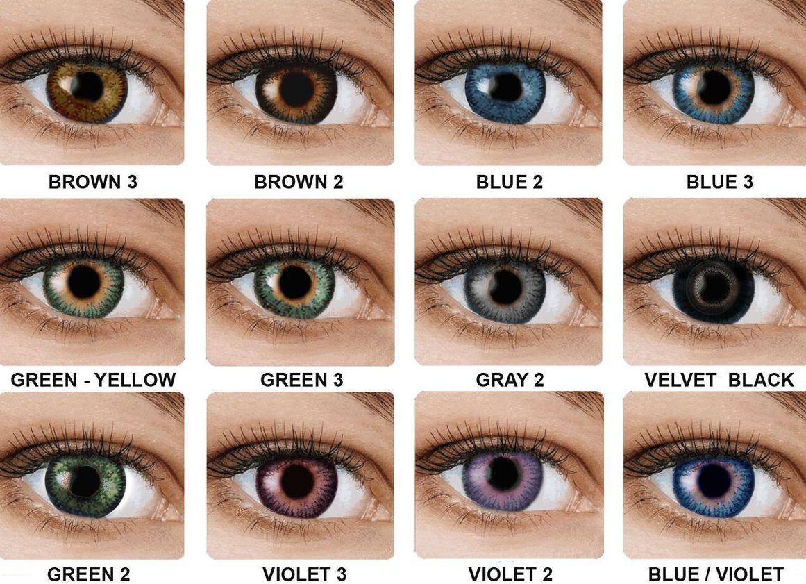 Színes kontaktlencse (dioptria nélküli)