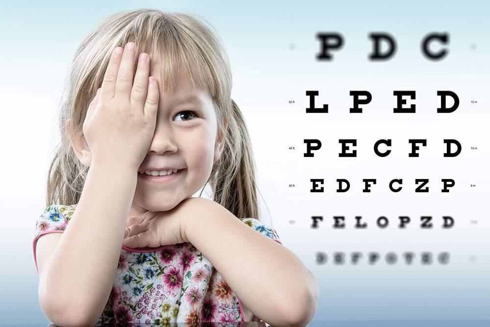 a felnőtt látása normális)
