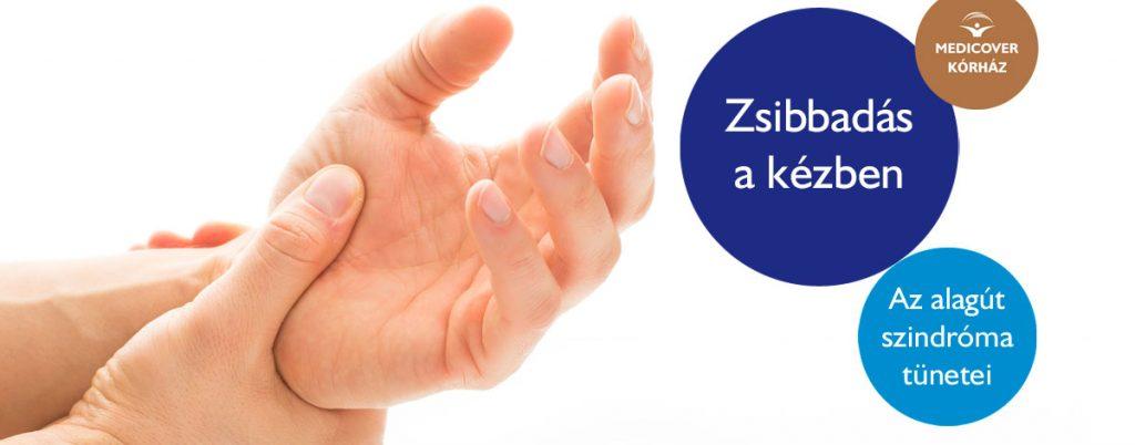 a kéz lábainak zsibbadása és csökkent látás)