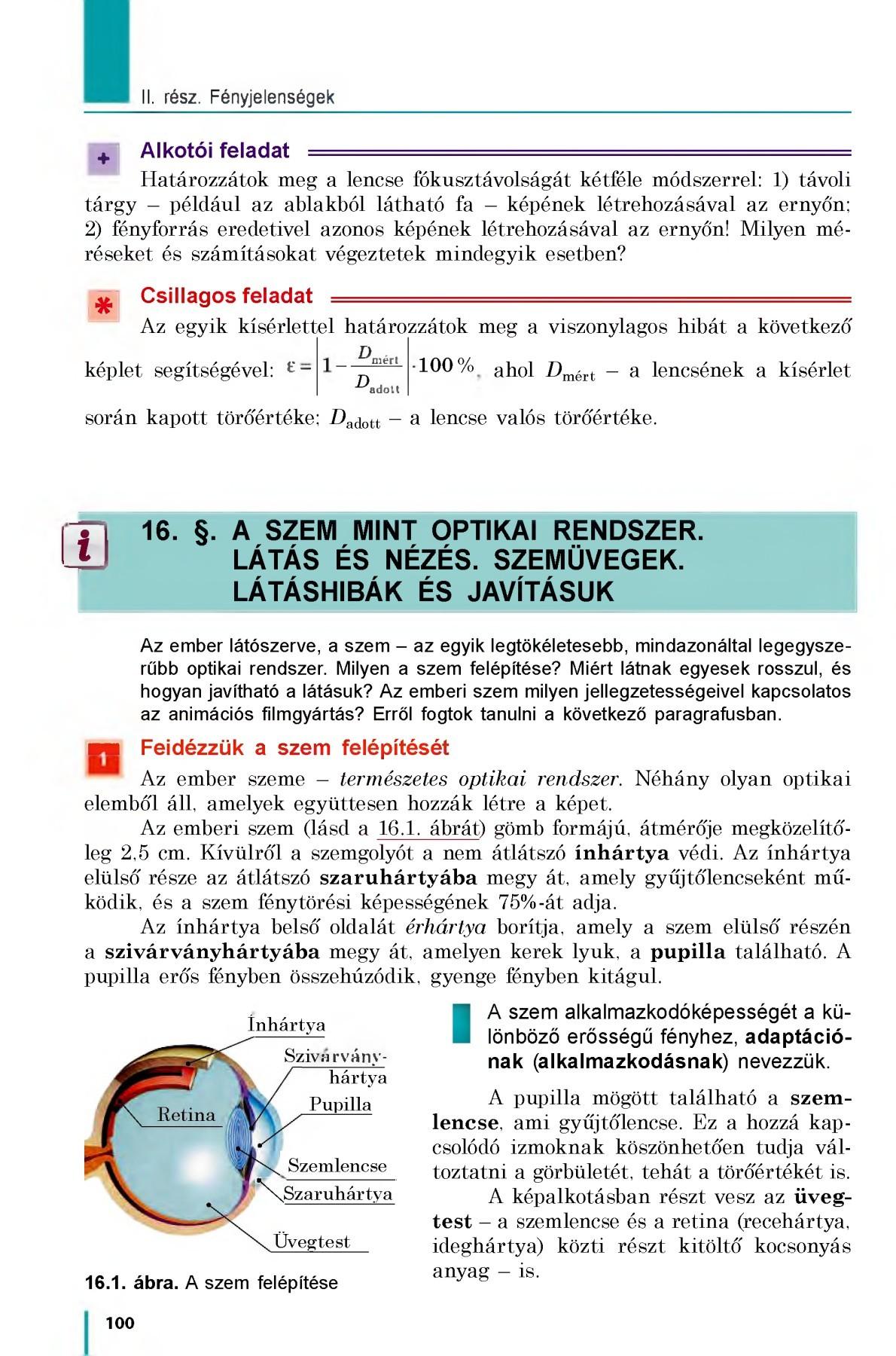 optikai funkció látás)