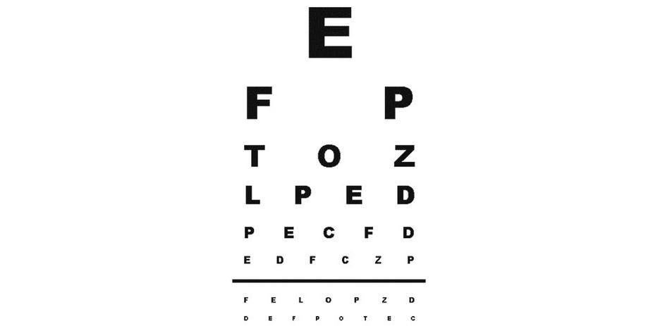 Látás-ellenőrzési táblázat