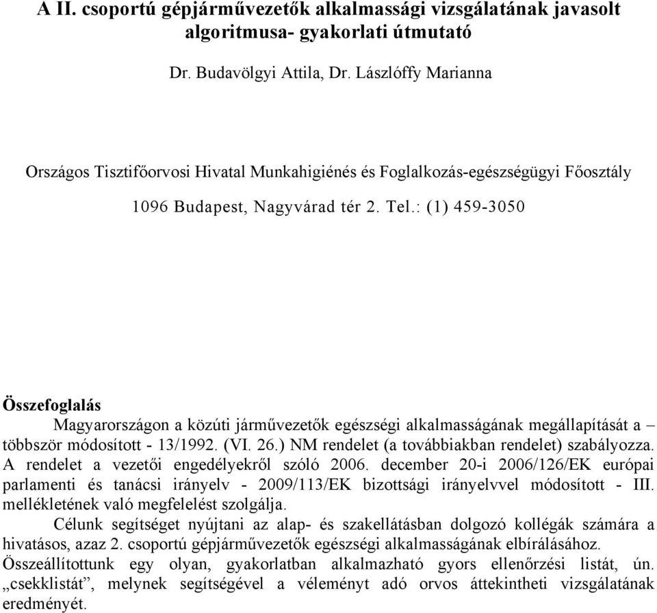 látásélesség-vezető orvosi fóruma)