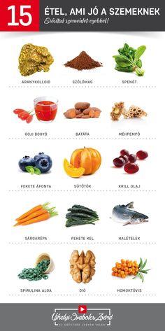ételek és vitaminok a látás javítása érdekében