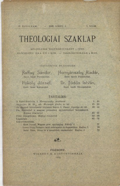 The Project Gutenberg eBook of Kárpáthy Zoltán by Mór Jókai