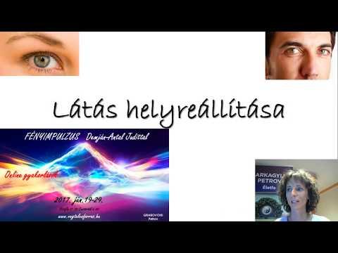 technikák a látás helyreállítására