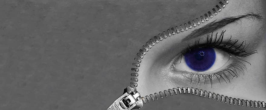 szem, kék, szaruhártya, szín, makró, háttér, emberek, nő, érzék, látás | Pikist