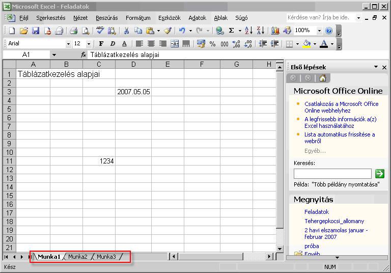 alapvető nézet táblázat)