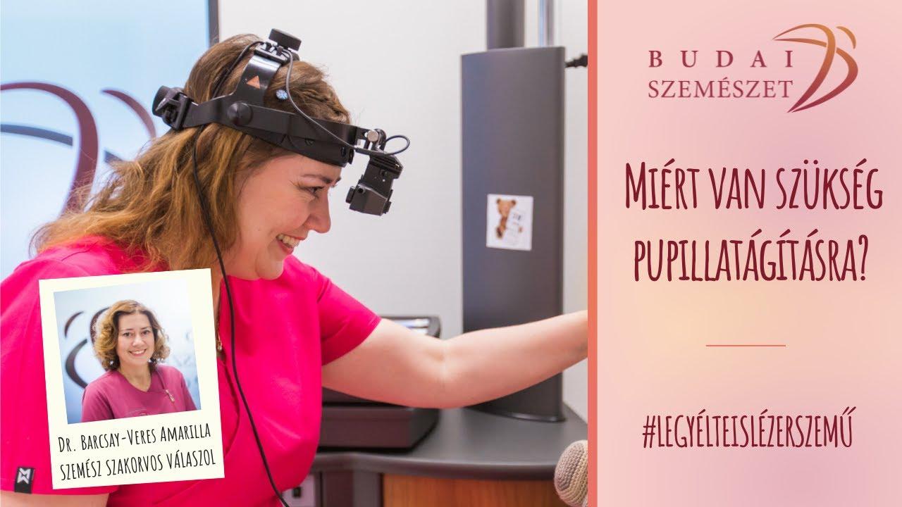 a rossz látás miatt műtétre van szükség)