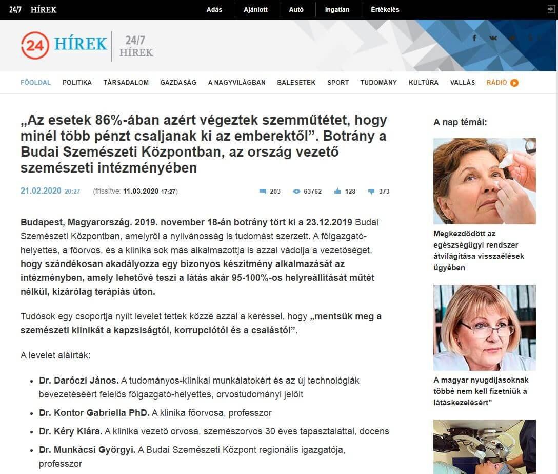 SZEM/ LÁTÁS - Egészségmegőrzés - vitalife24