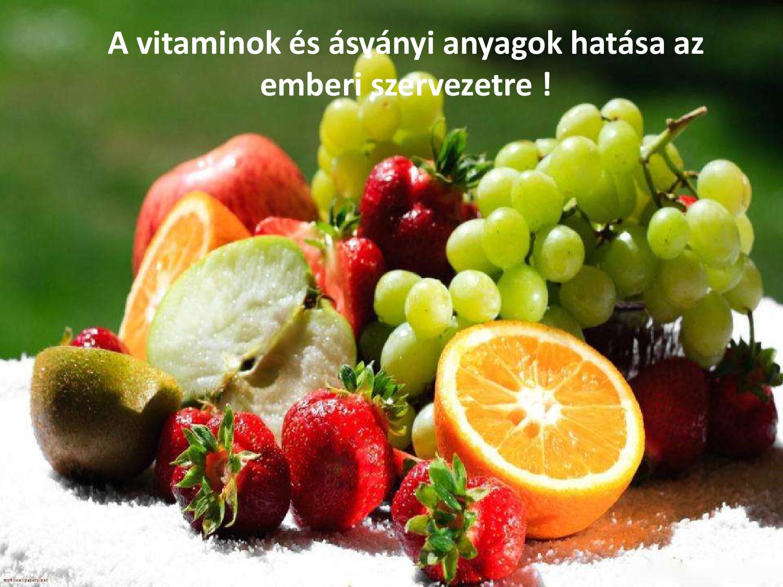vitaminok és látás