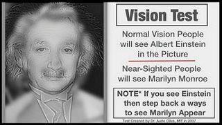 einstein myopia tesztje