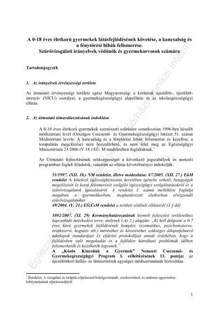 a látásélesség követelményei)
