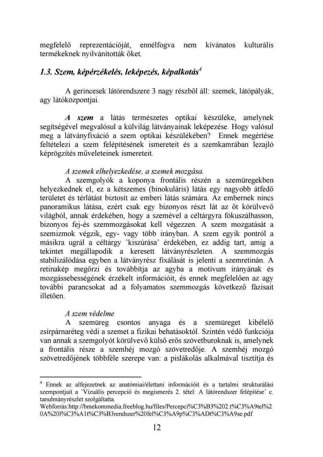 3. fejezet: Az emberi megismerés alapjelenségei