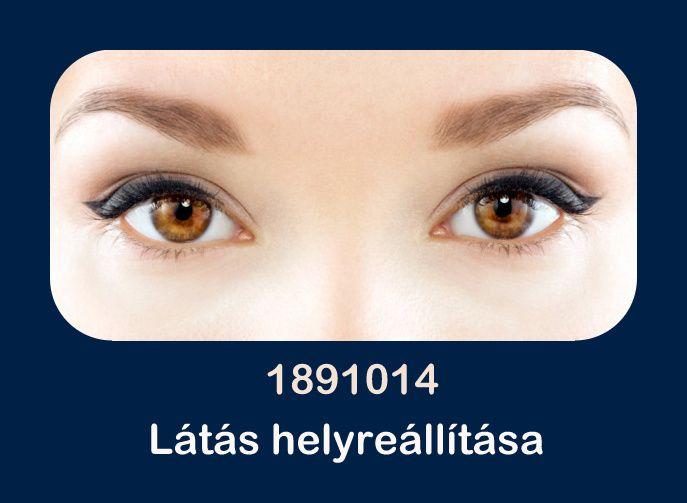 a látás helyreállítása Dashevsky szerint a és