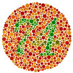 Vörös-zöld színtévesztés, vörös-zöld színvakság és teljes színvakság