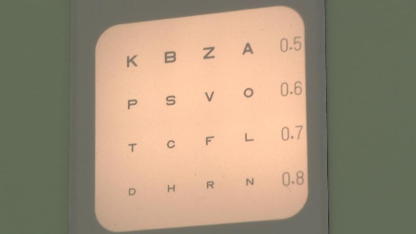 megvilágított látásélesség-diagram
