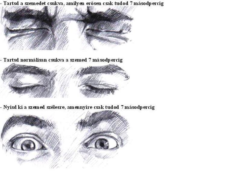 rövidlátás szem torna