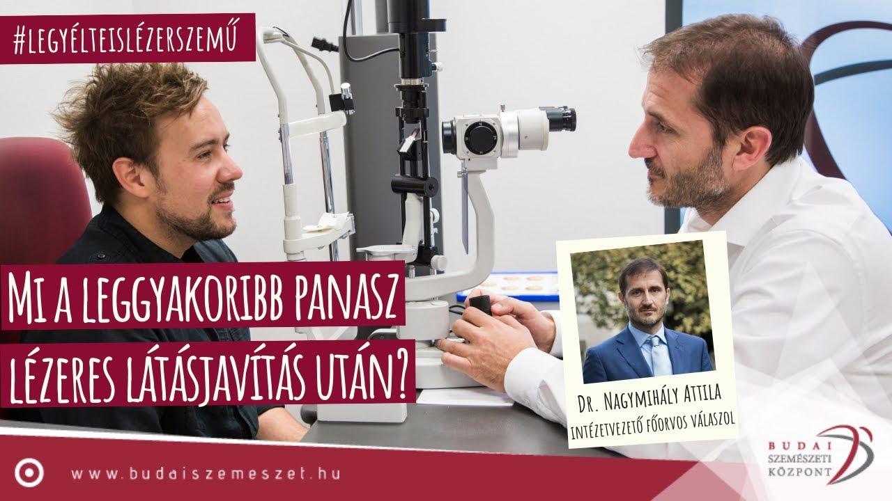 lézeres látáskorrekció nystagmus esetén)
