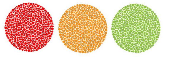 színvakság és normális látás