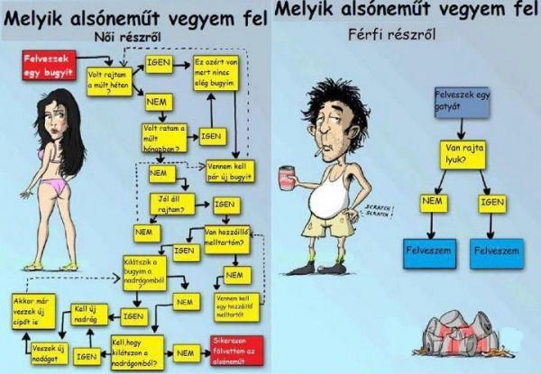 a férfiak és a nők különbsége)
