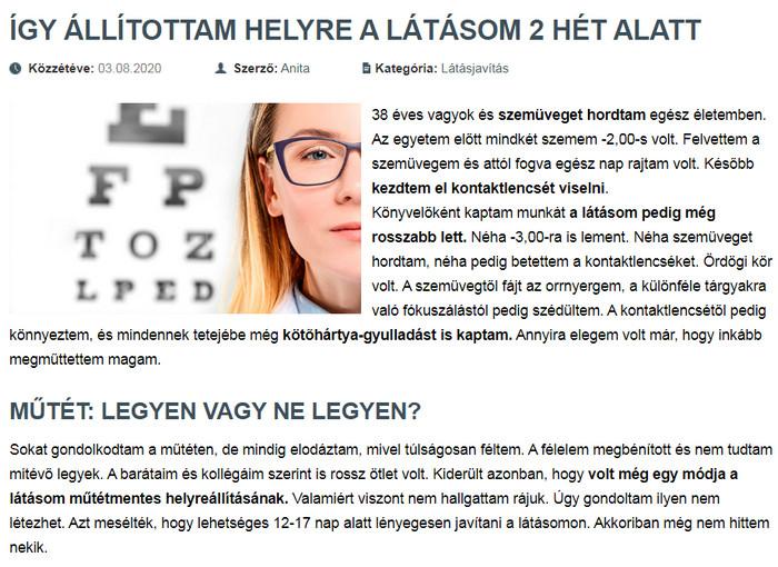 az öregség helyreállítja a látást