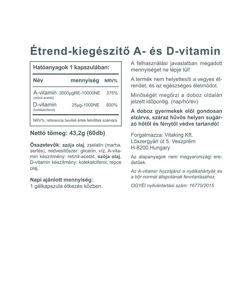 vitaminok a bőr és a látás számára)