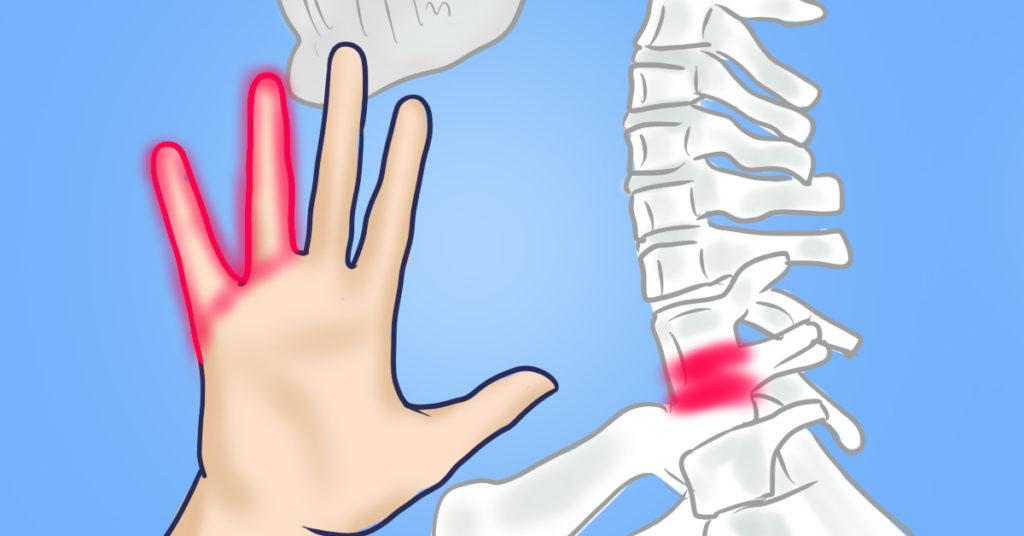 a kéz lábainak zsibbadása és csökkent látás