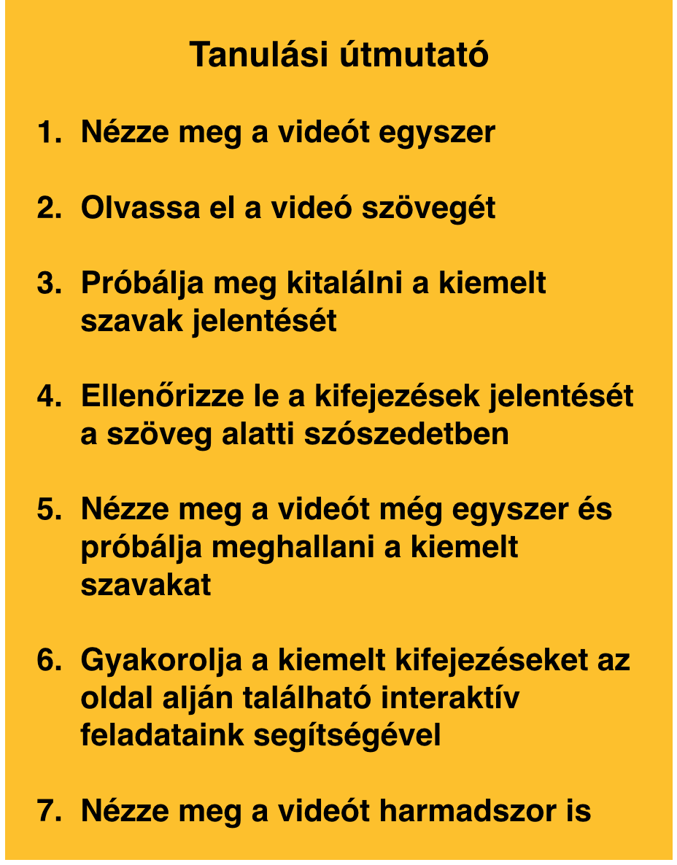 leckék a videóhoz)