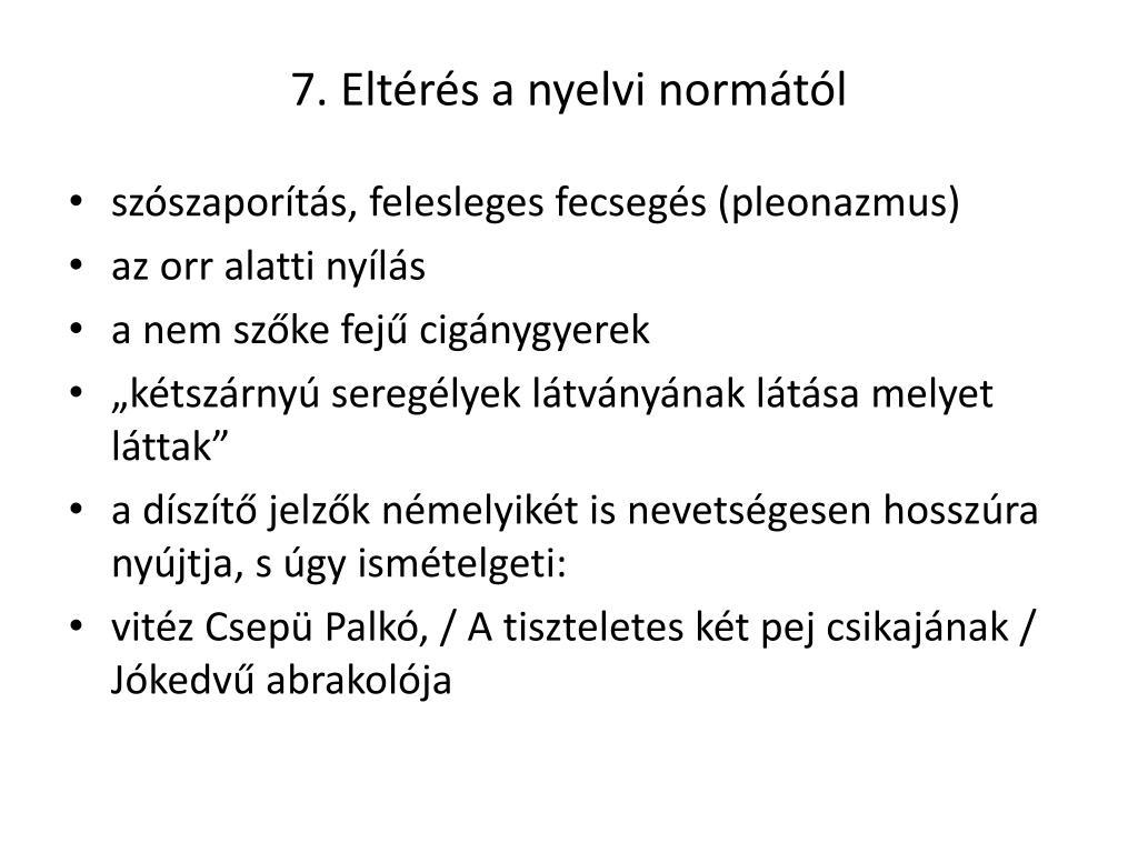 a látás eltérése a normától)
