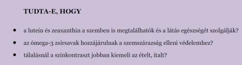 karotin és látás)