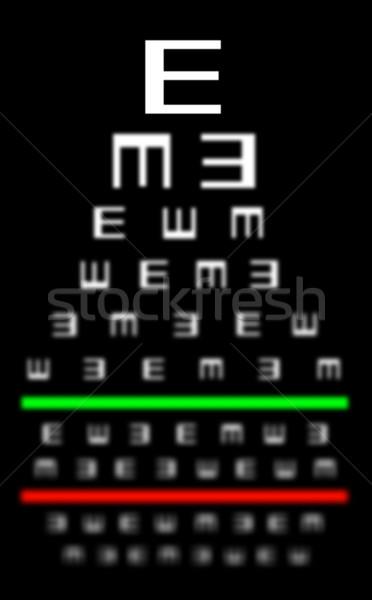 látási teszt diagram betűmérete