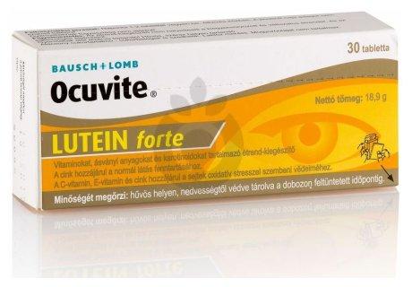 Látásjavító tabletta, kapszula