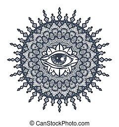 mandala és látás